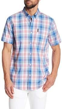Ben Sherman Short Sleeve Mid Plaid Regular Fit Shirt