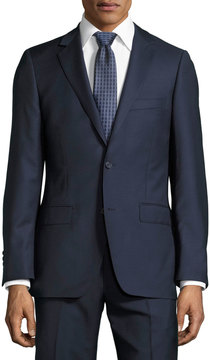 DKNY Slim-Fit Solid Wool Two-Piece Suit, Navy