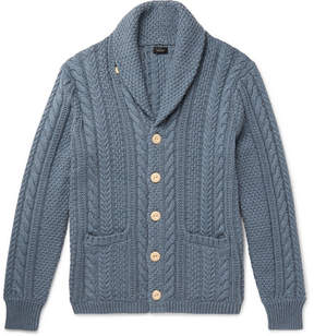J.Crew Shawl-Collar Cable-Knit Cotton Cardigan