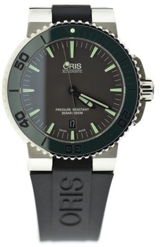 Oris Aquis Date 7653 Stainless Steel & Rubber Automatic 43mm Mens Watch