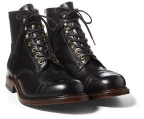 Ralph Lauren Bowery Leather Boot Black 10