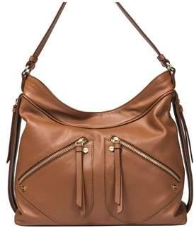 Borbonese Women's Brown Leather Shoulder Bag.