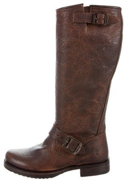 Frye Distressed Riding Boots