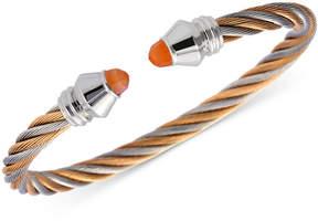 Charriol Women's Fabulous Orange Moonstone Two-Tone Pvd Stainless Steel Cable Bangle Bracelet