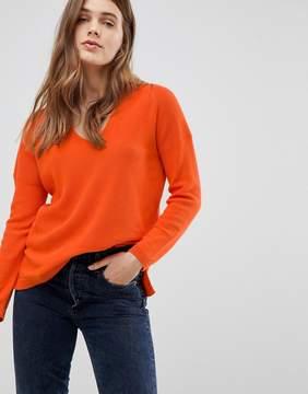 Esprit Ribbed V Neck Sweater