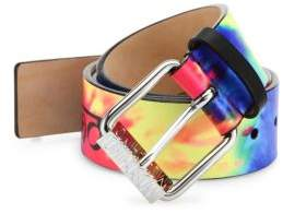 Moschino Fantasy Tie Dye Leather Belt