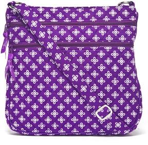 Vera Bradley Purple & White Mini Concerto Triple-Zip Hipster Crossbody Bag - PURPLE - STYLE