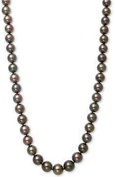Belle de Mer Cultured Tahitian Pearl (9mm) Strand Necklace in 14k White Gold
