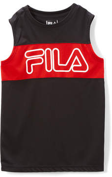 Fila Black & Red Color Block Core Tank - Boys