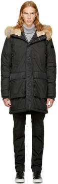 Diesel Black W-Folk Coat