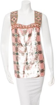 Mantu Sequin Patterned Top
