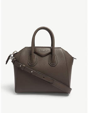 Givenchy Heather Grey Antigona Mini Leather Tote Bag