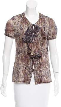 Escada Silk Short Sleeve Top