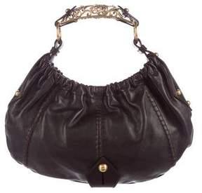 Saint Laurent Mombasa Handle Bag - BROWN - STYLE
