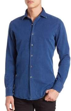 Incotex Slim-Fit Denim Sportshirt
