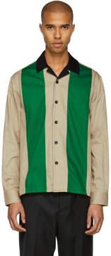 Ami Alexandre Mattiussi Beige and Green Colorblock Shirt