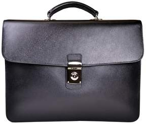 Royce Leather Italian Saffiano Executive Briefcase