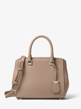MICHAEL Michael Kors Benning Medium Leather Satchel