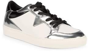 Versace Men's Metallic Leather Lo-Top Sneakers