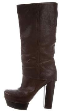 CNC Costume National Leather Platform Boots