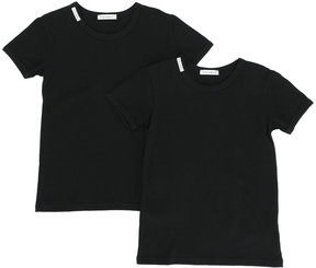 Dolce & Gabbana Kids branded T-shirt two-piece set