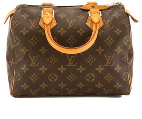 Louis Vuitton Monogram Canvas Speedy 25 Bag - BROWN - STYLE