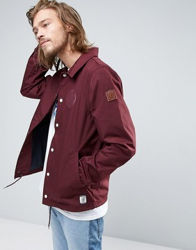 Element Murray Coach Jacket in Red