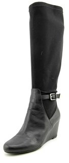 Isaac Mizrahi Krystal Round Toe Leather Knee High Boot.