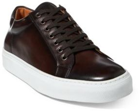 Ralph Lauren Severn Calfskin Sneaker Dark Brown 10 D