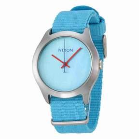 Nixon Mod Bright Blue Dial Bright Blue Nylon Watch A348606