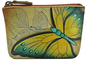 Anuschka Anchka Women's Leather Coin Purse | Genuine Soft Leather | Hand-painted Original Art |