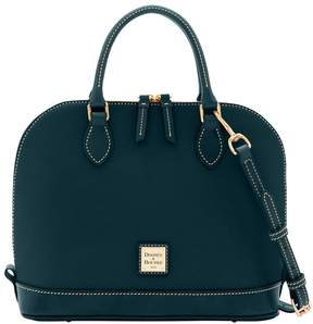 Dooney & Bourke Pebble Grain Zip Zip Satchel - BLACK BLACK - STYLE