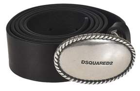 DSQUARED2 Women's Black Leather Belt.
