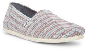 Toms Classic Henna Blue Stripe Slip-On Shoe