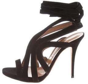 Alexa Wagner Suede Wrap-Around Sandals