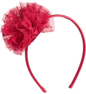 H&M Hairband with Tulle Rose - Red