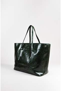 Alaia Pre-owned Green Black Python Tote Bag.