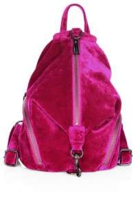 Rebecca Minkoff Julian Medium Velvet Backpack - FUCHSIA - STYLE