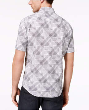Alfani Men's Zig-Zag Check-Print Shirt, Created for Macy's