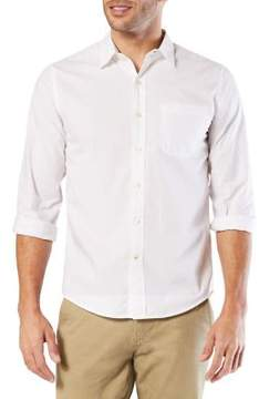 Dockers Premium Edition Slim-Fit Laundered Poplin Cotton Button-Down Shirt