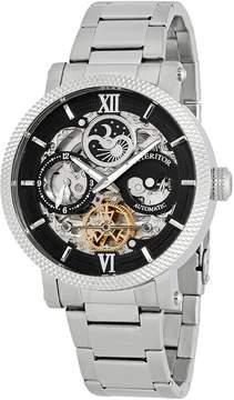 Heritor Aries Black Skeleton Dial Automatic Men's Watch