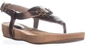 Giani Bernini Gb35 Raisaa Flat Thong Sandals, New Dark Bronze.