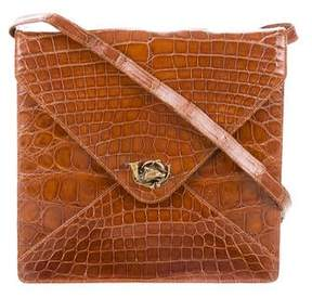 Ralph Lauren Alligator Envelope Shoulder Bag