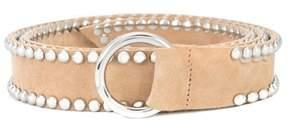 B-Low the Belt Women's Beige Suede Belt.