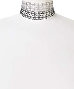 Carole Black & Gray Openwork Choker Necklace Set