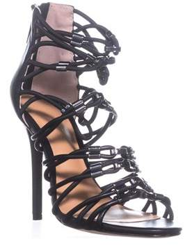 Halston Ania Strappy Sandals, Black.