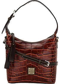 Dooney & Bourke As Is Croco Leather Crossbody Handbag-Paige