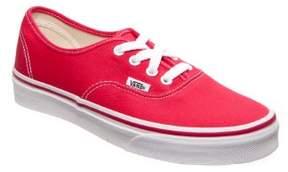 Vans Unisex Authentic(tm) Core Classics Red Sneaker Men's 4, Women's 5.5 Medium
