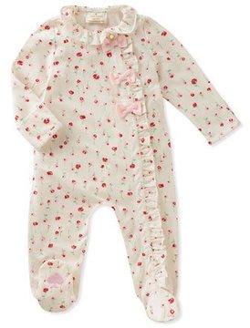 Kate Spade Ruffle & Bows Rose-Print Footie Pajamas, Size 3-9 Months