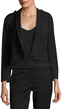 BA&SH Tali One-Button Cropped Wool-Blend Blazer